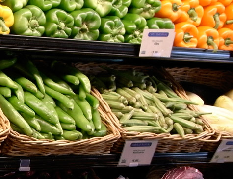 Vegetables for sale at Whole Foods Market